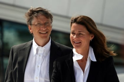 Bill et Melinda Gates credit wikipedia.org