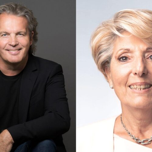 Fabrice Develay, fondateur de GCollect et Viviane Chaine-Ribeiro, Présidente de la Fédération des TPE de France